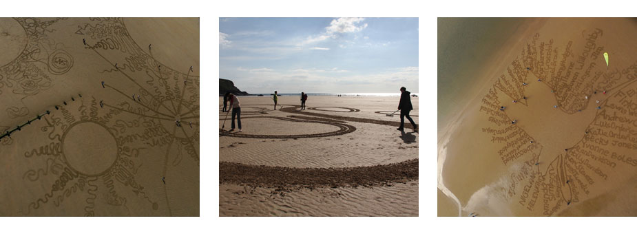 Sand Drawing Workshops & Corporate Team Building