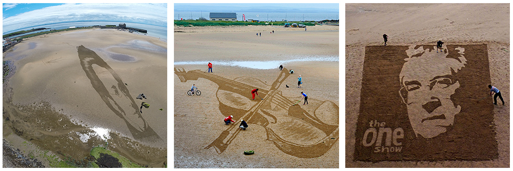 3D Anamorphic Sand Drawings
