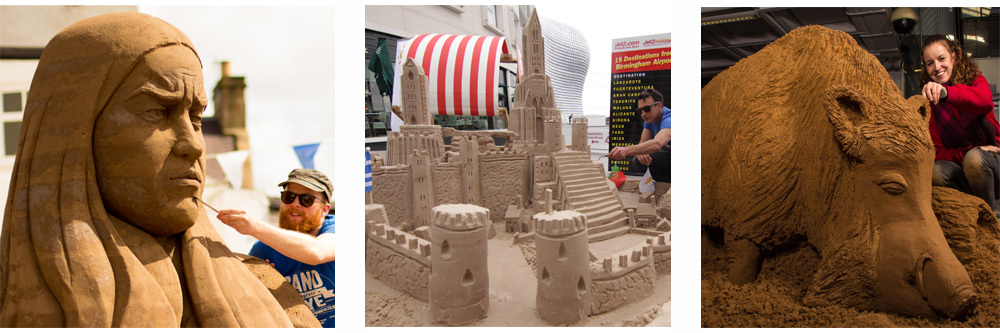 Demonstration Sand Sculptures