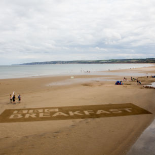 Beach Events BBC Breakfast Logo Sand Drawing Filey