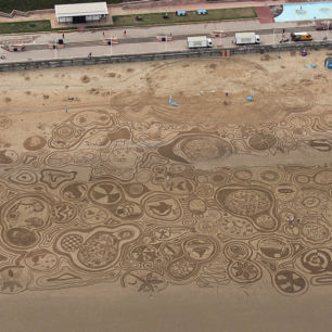 Yorkshire Water, Family Sand Drawing Workshop, Bridlington