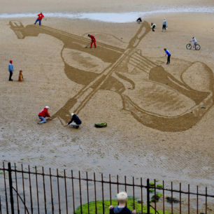East Neuk Festival Interactive Sand Drawing 2015