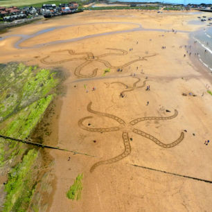 Sand Drawing Workshop, Elie Beach, Scotland