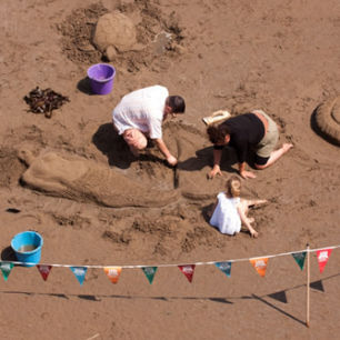 National Trust Sand Sculpture Workshops, Robin Hood's Bay, image by Shaun Cook