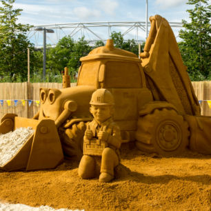 Bob The Builder Sand Sculpture, Mattel at Beach East Olympic Park