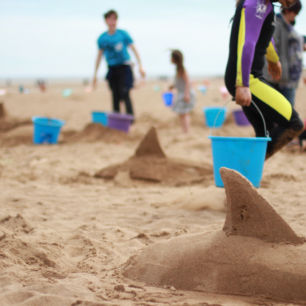 Skegness Sand sculpture workshops and competition.
