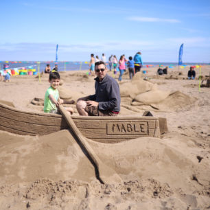 Beach Sand Sculpture, Mablethorpe