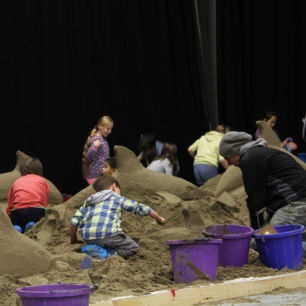 Indoor Sand Sculpture Workshop, Llandudno