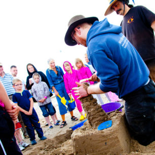 Children's Sand Sculpture Workshop, Elie, Scotland