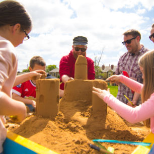 Pop up sand sculpture workshop