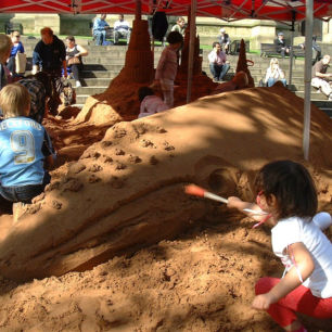 Urban Sand Sculpture Workshops, Wakefield
